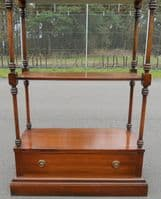 SOLD - Tall Mahogany Whatnot Stand by Reprodux